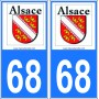 Plaques Immatriculations Alsace