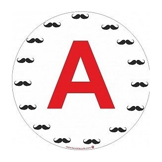 Sticker A Moustache (jeune conducteur)
