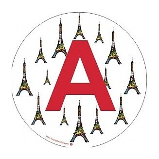 Sticker A Tour Eiffel (jeune conducteur)
