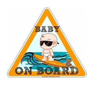 Baby on board jaune
