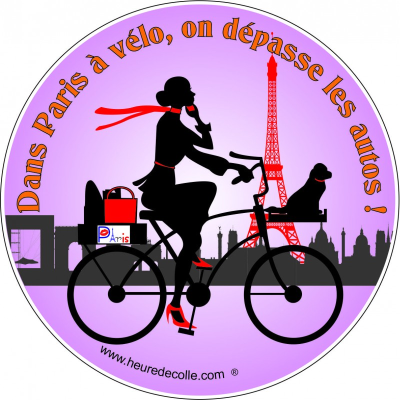 Sticker paris a v lo - Deco jardin velo paris ...